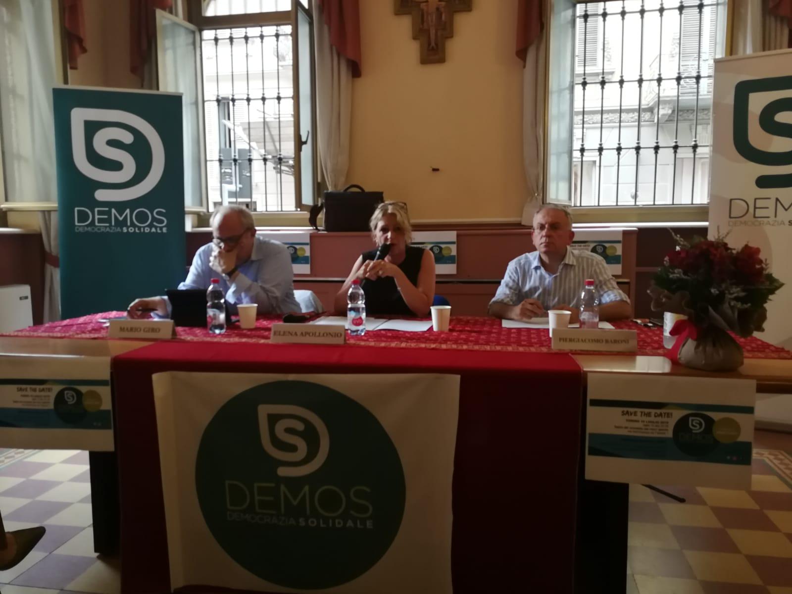 demos democrazia solidale piemonte assemblea regionale mario giro elena apollonio piergiacomo baroni