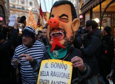 demos democrazia solidale piemonte protesta salvini