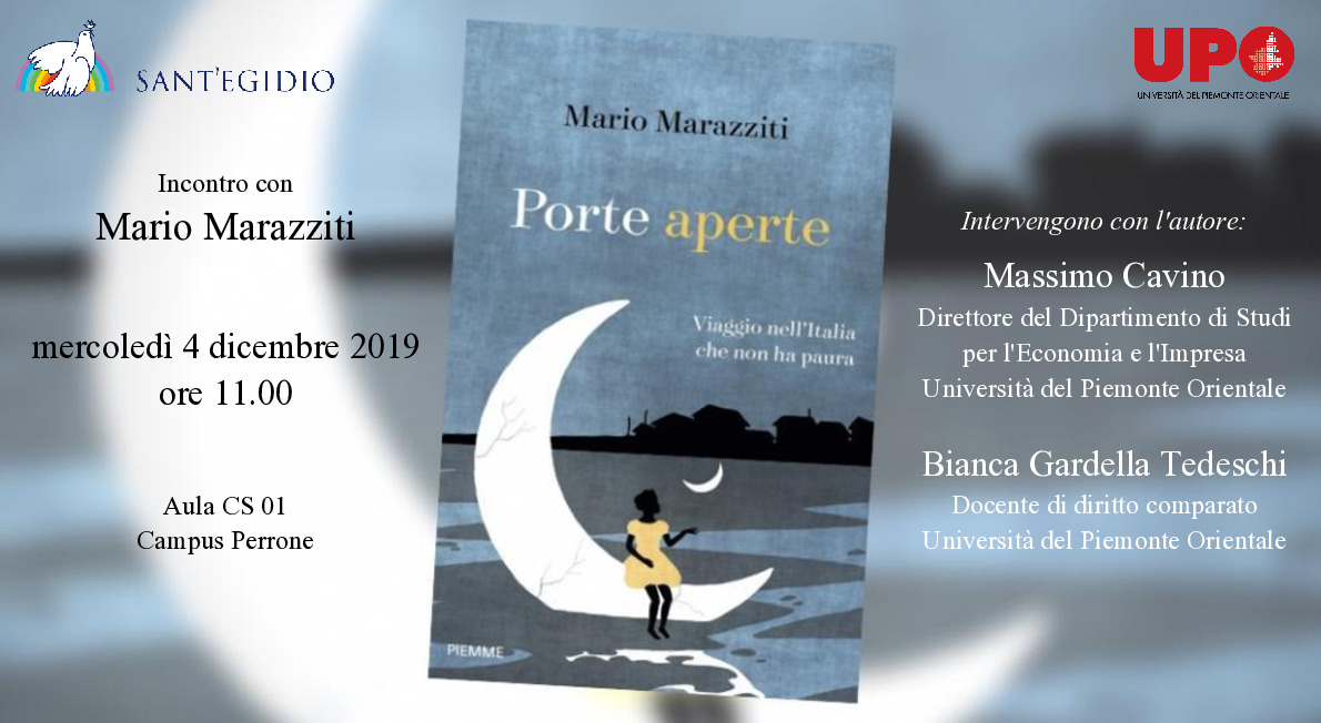 Mario Marazziti corridoi umanitari demos Novara