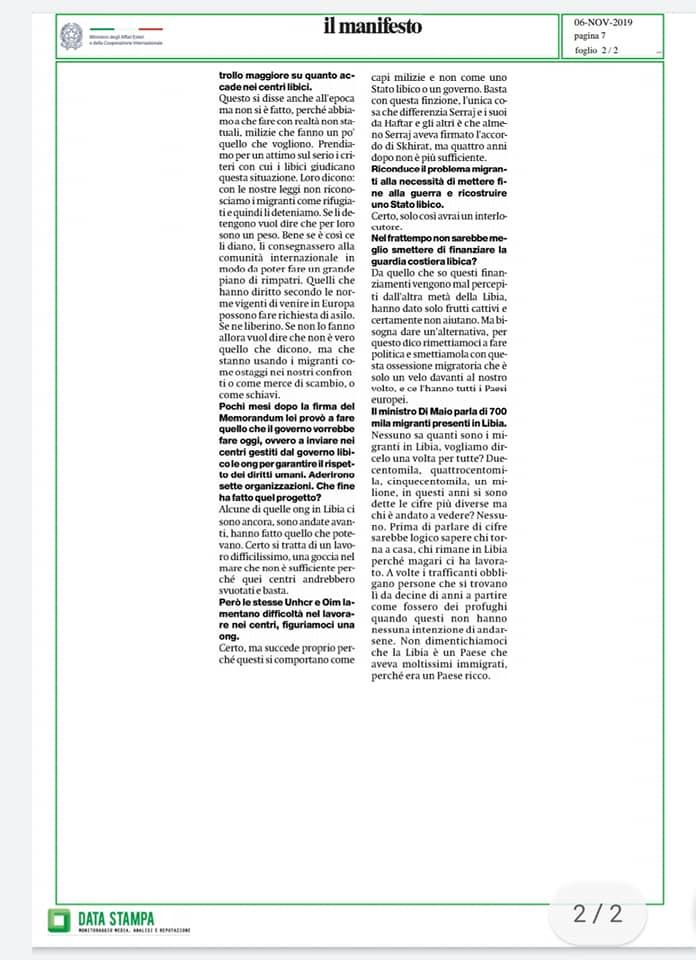 Mario Giro demos democrazia solidale migranti libia