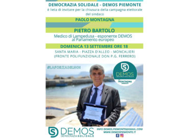 Pietro Bartolo a Moncalieri DemoS Democrazia Solidale